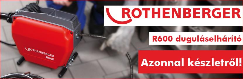 Rothenberger R600 duguláselhárító gép